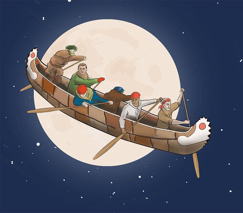 Legend of the flying canoe
